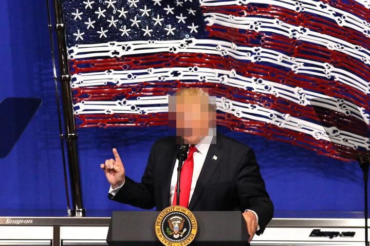 Donald Trump Pixelated