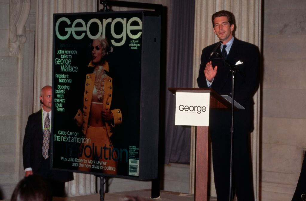 John F. Kennedy, Jr. at George Press Conference