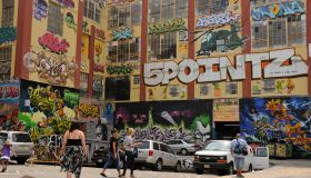 USA New York New York City - Factory building with graffitis, '5Pointz' is an outdoor art exhibit space for graffiti artists