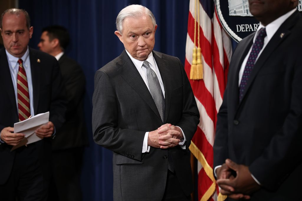 Attorney General Jeff Sessions Receives Award From The Sergeants Benevolent Association of New York City