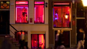 Women Soliciting Customers in Amsterdam's Red Light District
