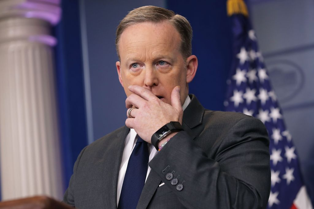 Jeff Sessions Joins Sean Spicer For Daily Press Briefing At The White House