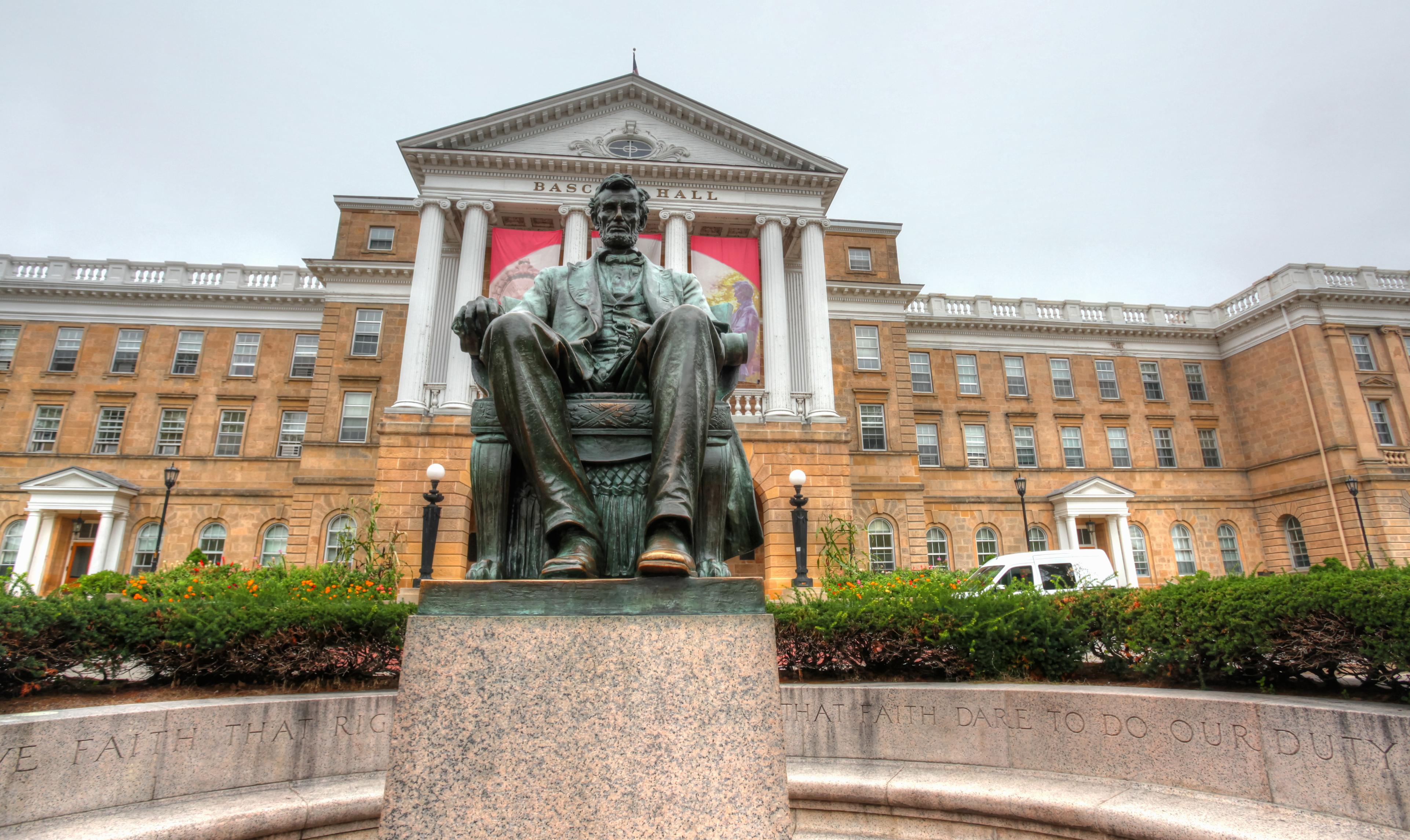 Abraham Lincoln Statue on Bascom Hill, UW-Madison
