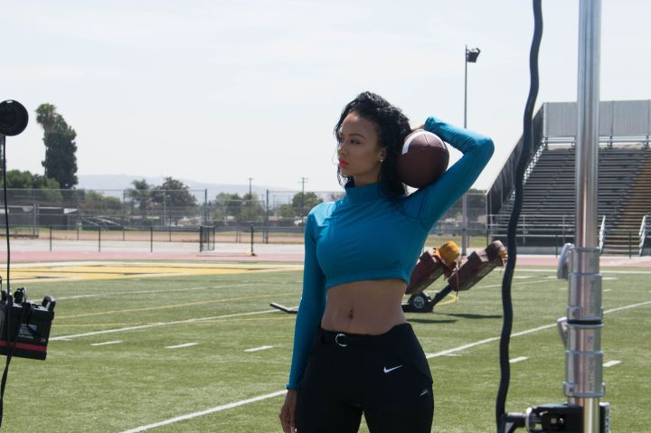 Draya BTS cover shoot with CASSIUS