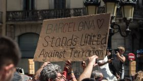 A Minute's Silence Is Held In Barcelona To Pay Tribute To The Terror Attack Victims