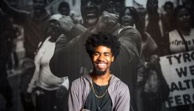 Devin Allen, amateur photographer whose photo of the Baltimore riots ended up on the cover of Time sets up a show at the Reginald Lewis Museum