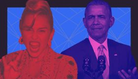 Miley Cyrus and Obama