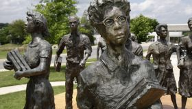 Little Rock Nine, life-size sculptures.