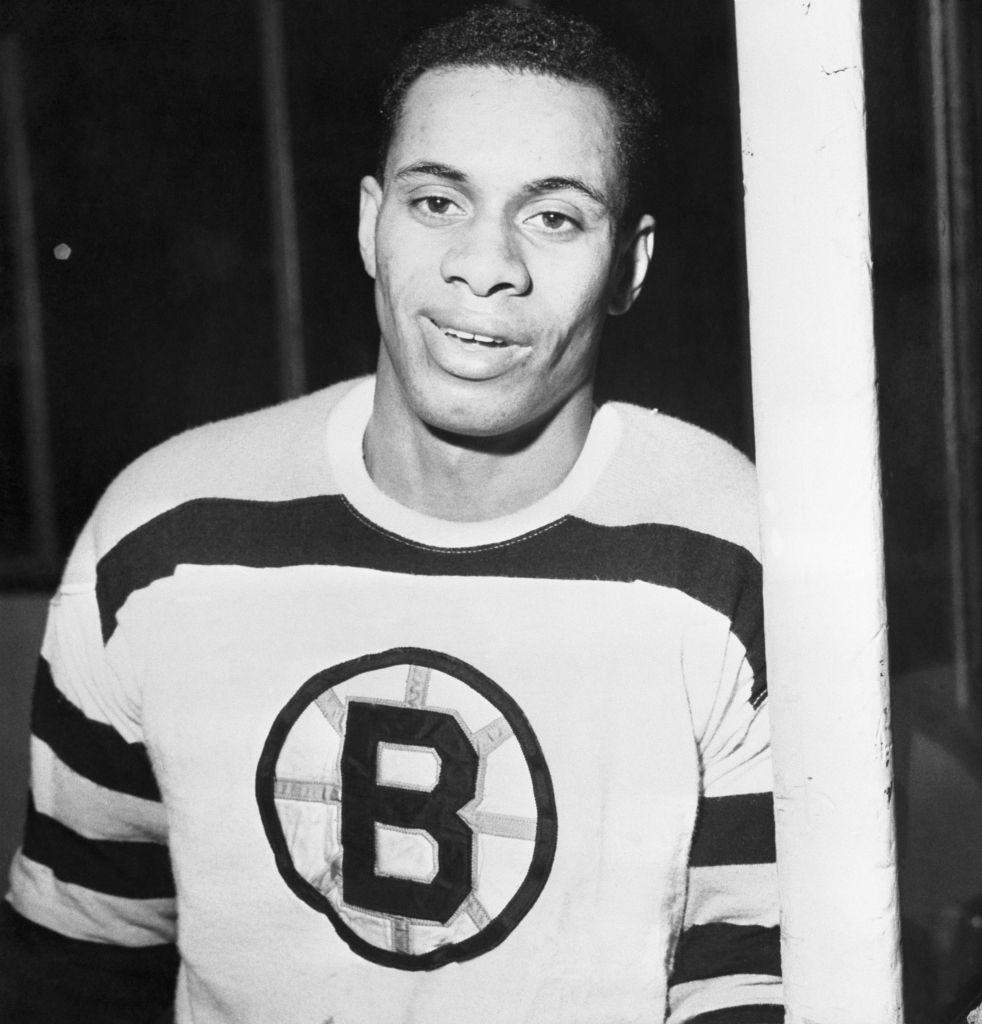 First Negro in National Hockey League