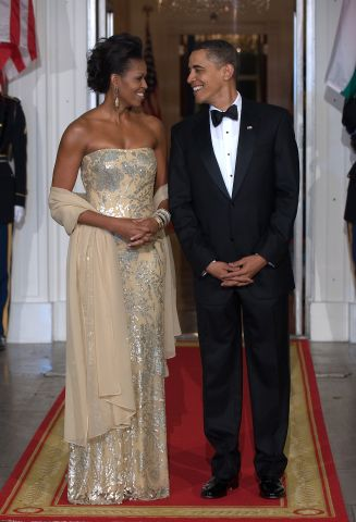 US President Barack Obama stands with Fi