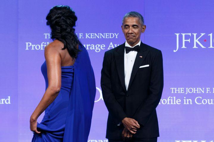 Obama Recieves JFK Profile In Courage Award