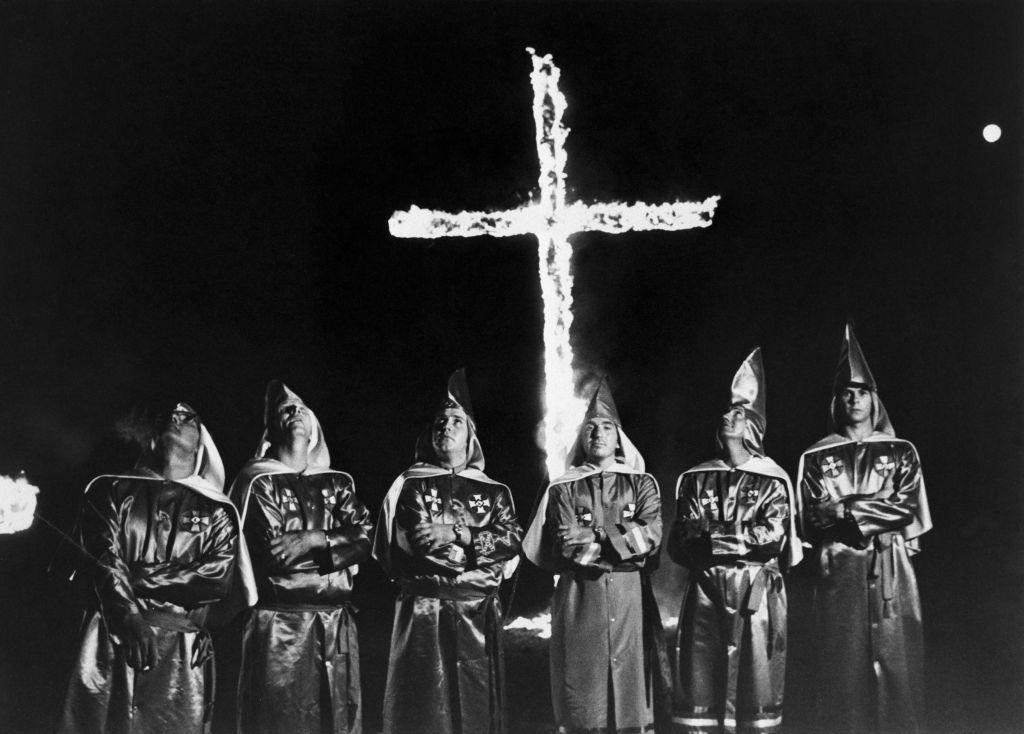 Klansmen Burning Cross At Stone Mountain