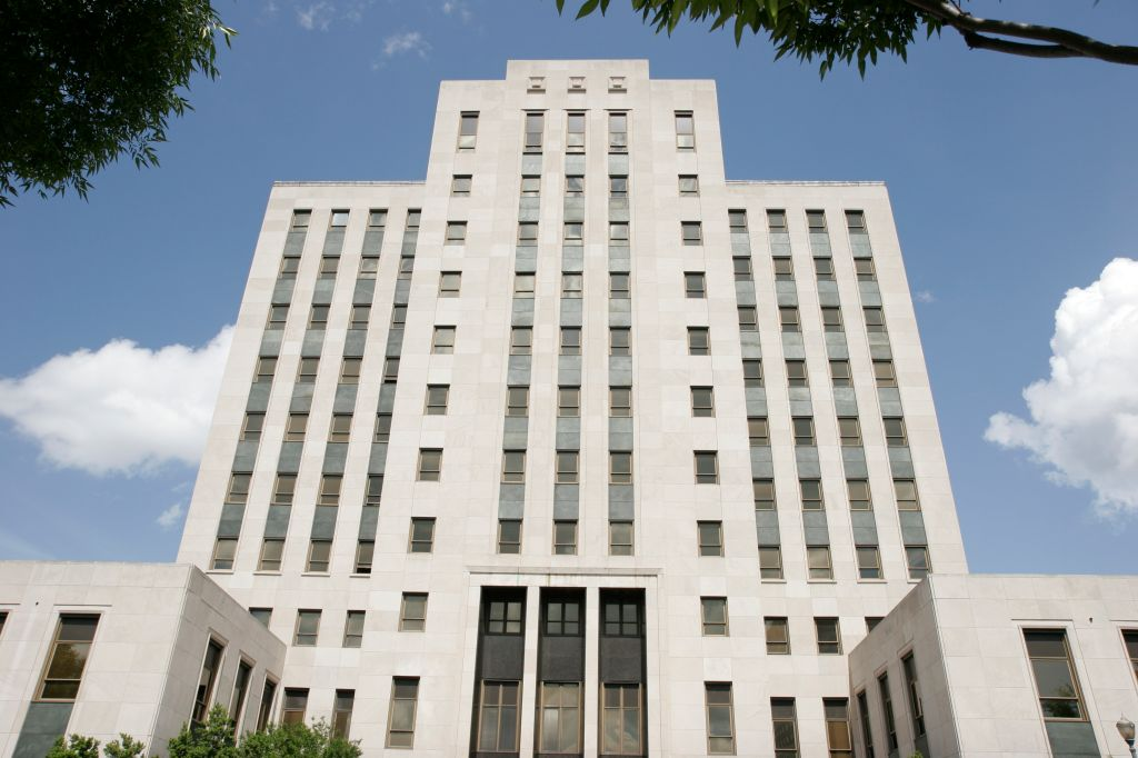 The exterior of City Hall in Birmingham, Alabama.