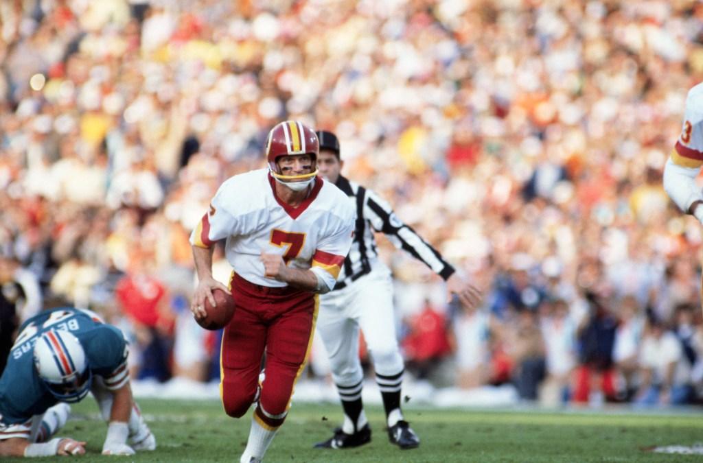Washington Washington Football Team Quarterback Joe Theisman Playing Hard