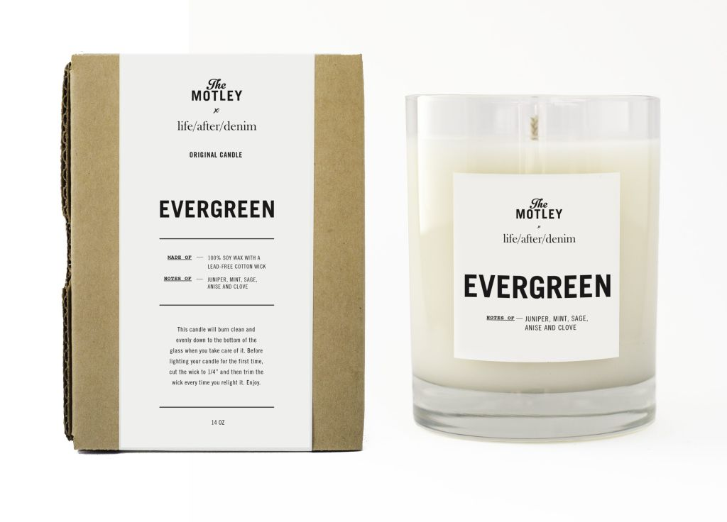 Evergreen Candle for Holiday with life/after/denim