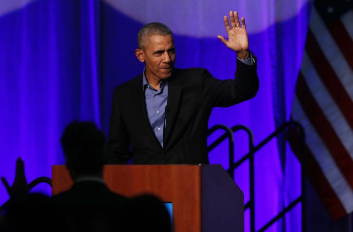 Obama at climate event in Chicago doesn't mention Trump's name; says U.S. in an 'unusual time'