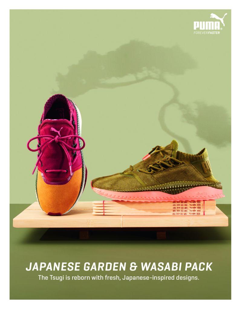 PUMA TSUGI Japanese Garden & TSUGI Wasabi