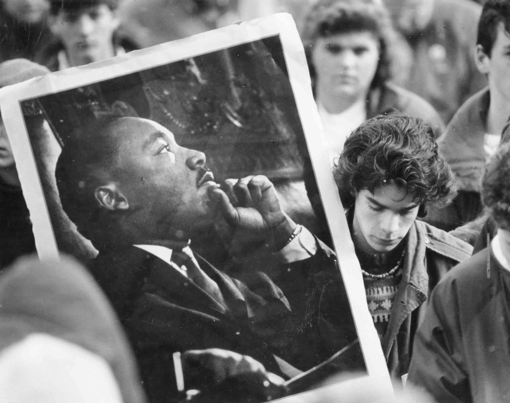 NH Protest Over MLK Day