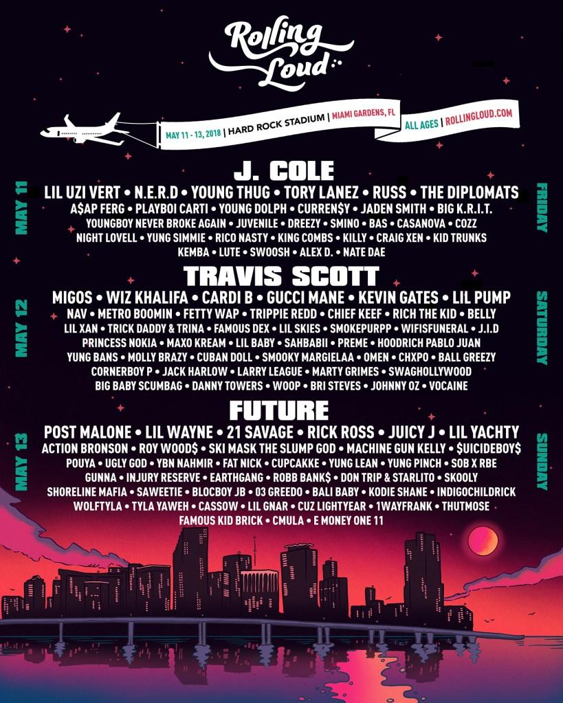 Rolling Loud Festival flyer