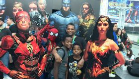 Miles Marshall Lewis with children Superheroes