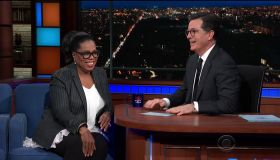 Oprah Winfrey during an appearance on CBS' 'The Late Show with Stephen Colbert.'