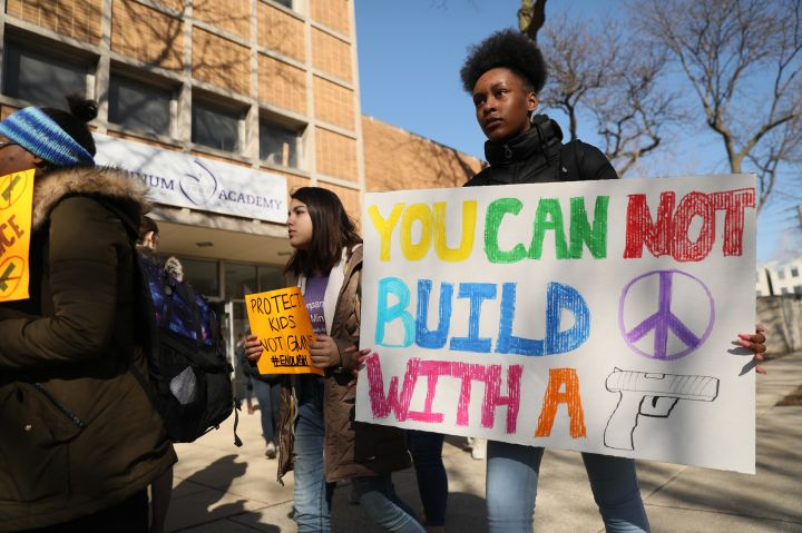 Students walk out from schools at 10am to protest gun violence - MD