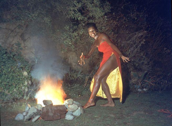 Maya Angelou Dances Beside Bonfire