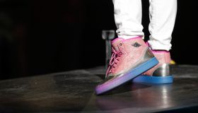 Nicki Minaj pinkprint jordans at 2015 Jordan Brand Classic