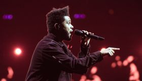 The Weeknd (Abel Makkonen Tesfaye) performs at the Verizon Center on Thursday night.