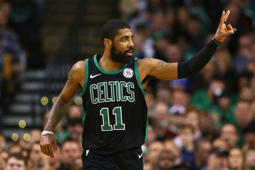 Kyrie Irving at Indiana Pacers v Boston Celtics game