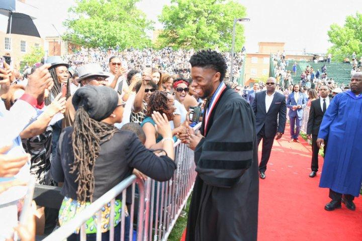 Chadwick Boseman at Howard University