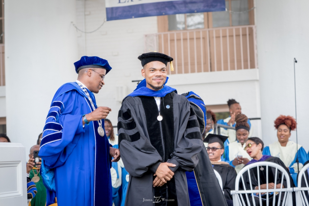 Chance The Rapper at Dillard Commencement