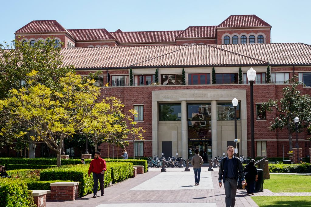 The exterior of the University of Southern California.