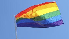 USA, California, San Francisco, rainbow flag (gay pride flag)