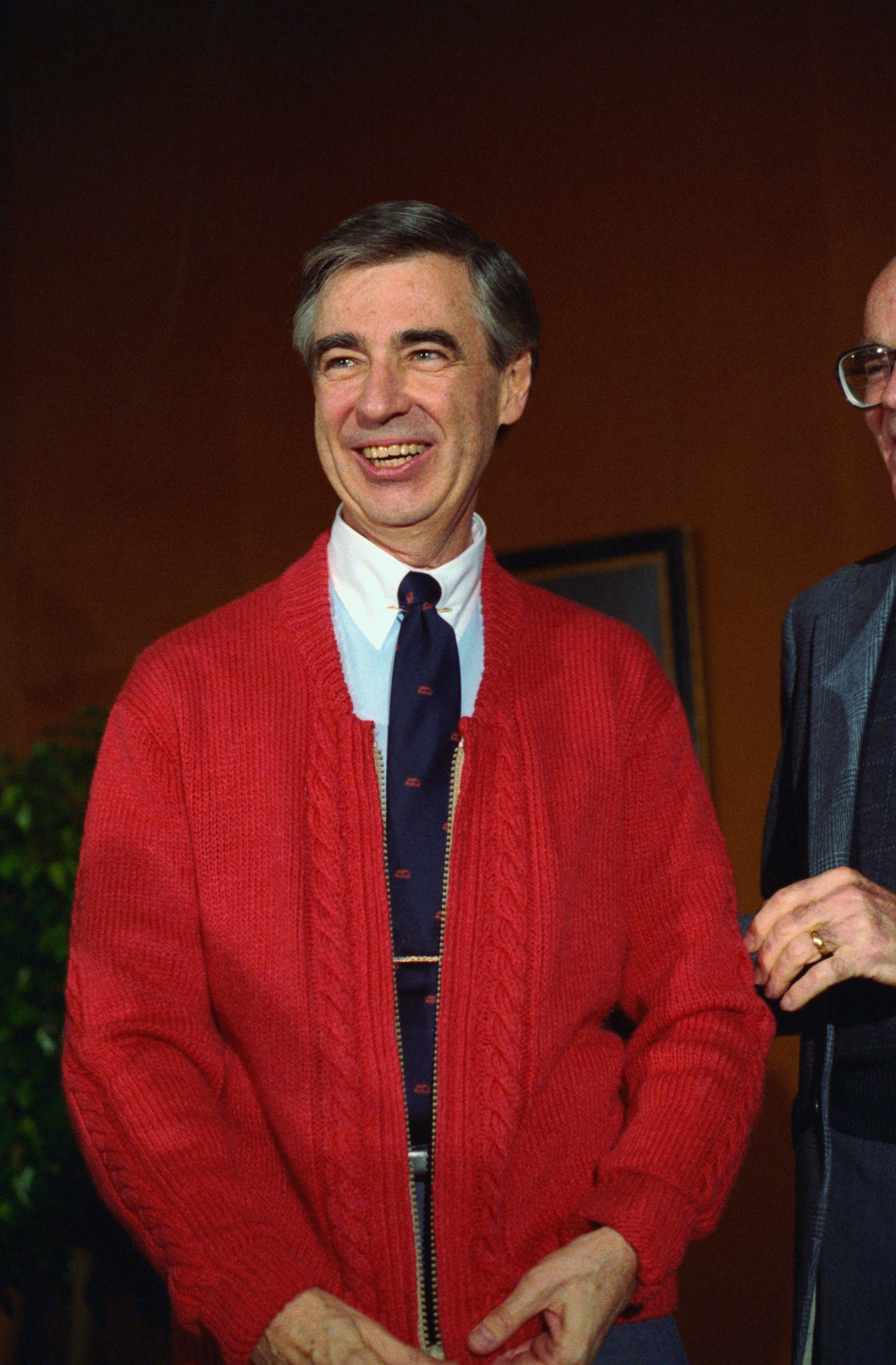 Fred Rogers Donating His Red Sweater