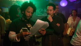 Boots Riley and Steven Yeun on 'Sorry To Bother You' Set