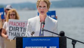 Cynthia Nixon, Candidate for NY Governor, held a press...