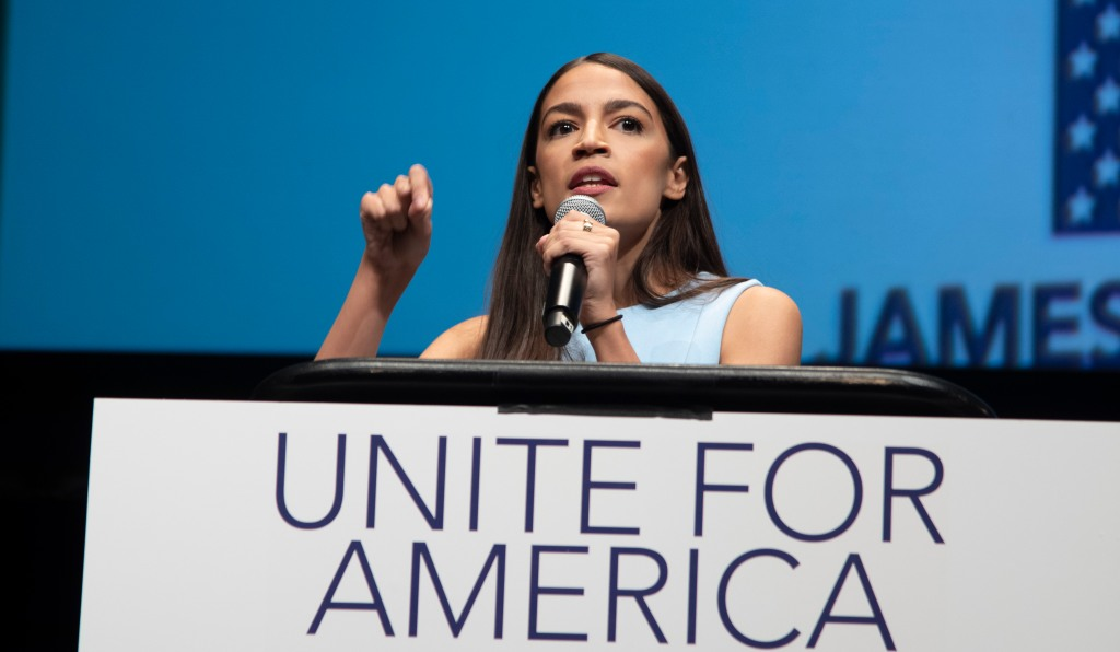 Alexandria Ocasio-Cortez, Senator Bernie Sanders, James Thompson