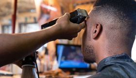 Visiting the local township barber