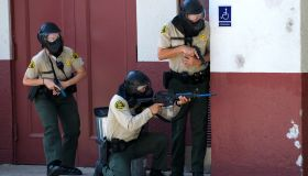 Active Shooter Drill in a Los Angeles High School