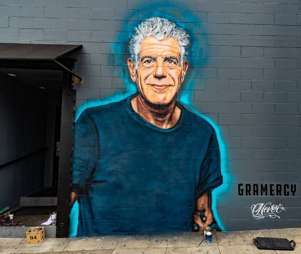 Anthony Bourdain Mural Unveiled In Santa Monica