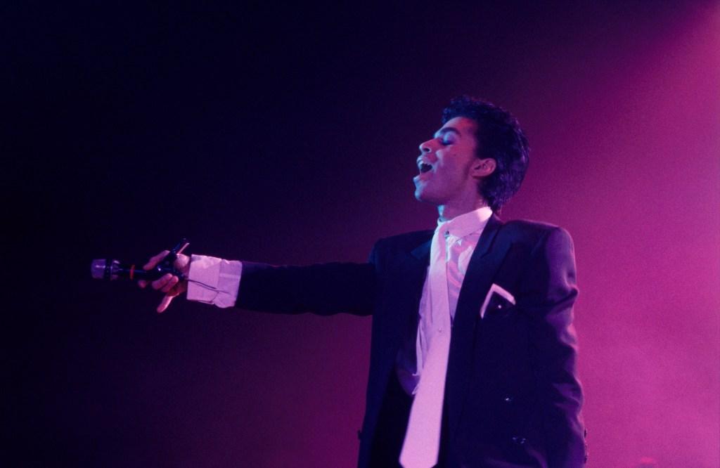 Prince sur scène à Paris