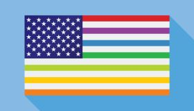 Blue USA Gay Rights Flag Icon