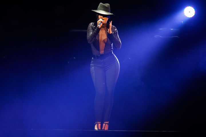 Alicia Keys And Miguel Perform At The Staples Center