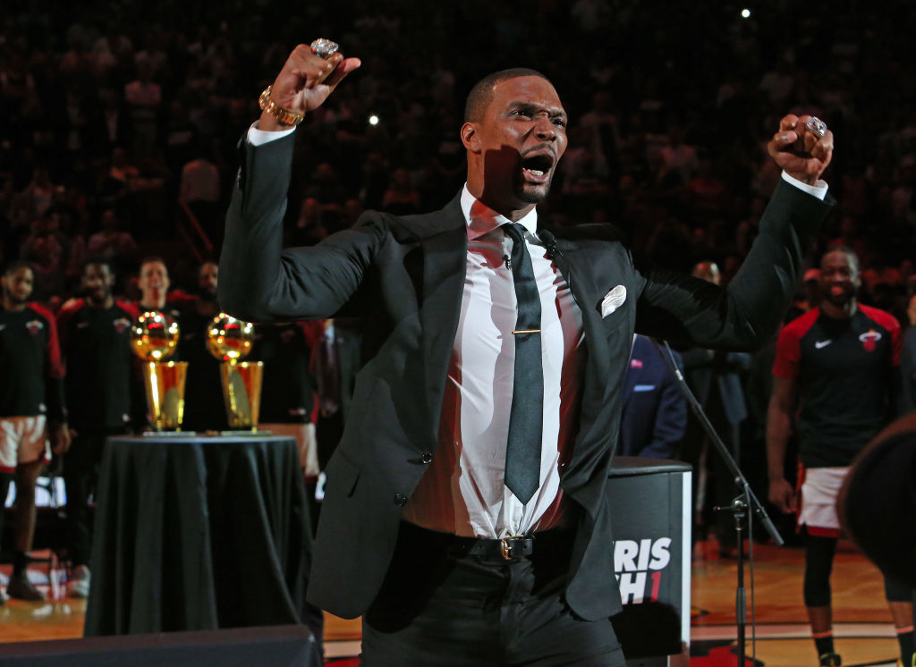 Chris Bosh Became The Fourth Heat Player To Have His Jersey Retired