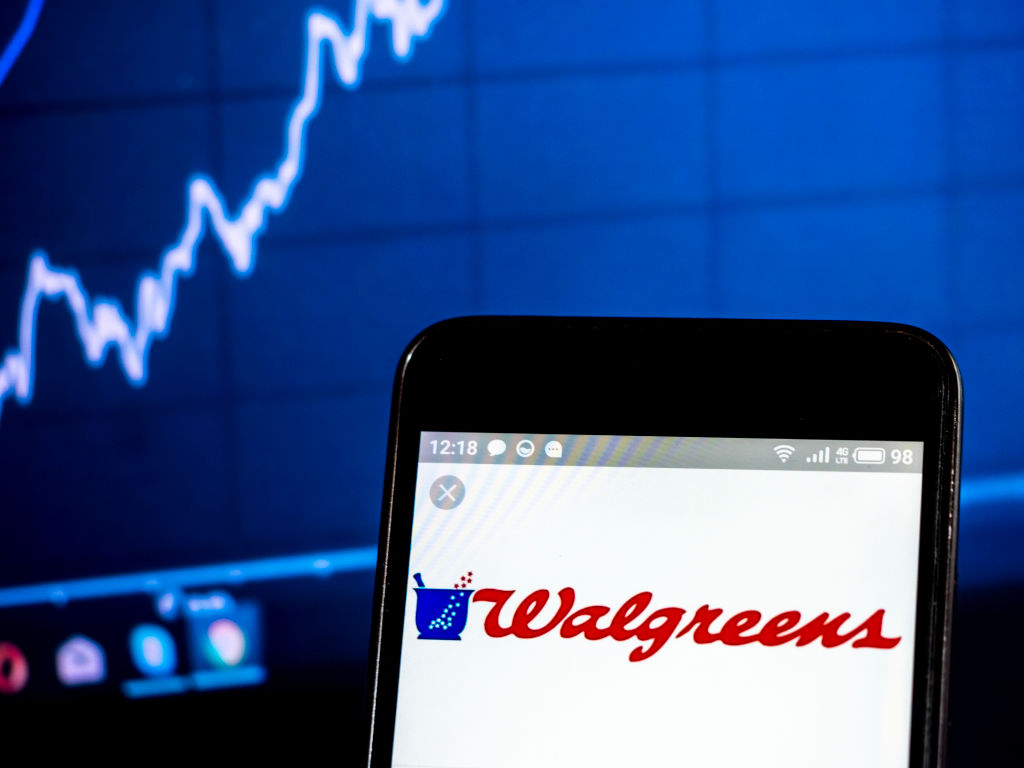 Walgreen Company logo seen displayed on a smart phone...