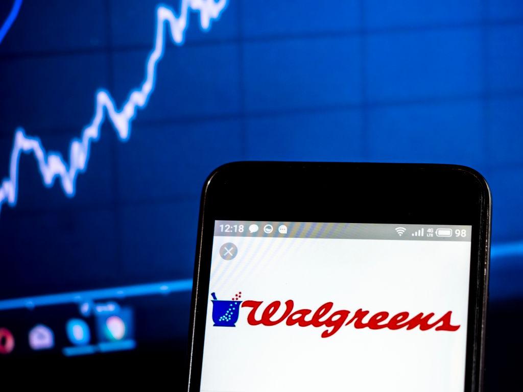 Walgreen Company logo seen displayed on a smart phone...