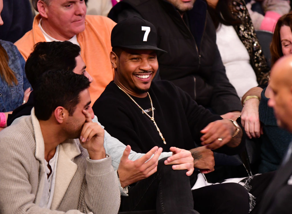 Celebrities Attend Miami Heat v New York Knicks
