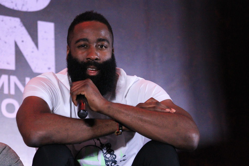 NBA Superstar and 2018 MVP James Harden visited Manila to...