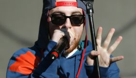 Mac Miller performs at the Rock the Bells hip-hop festival held at the Shoreline Amphitheatre in Mountain View, Calif., Saturday, Aug. 25, 2012. The two-day festival features more than 40 artists. (Anda Chu/Staff)